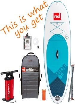"Red Paddle Co 9'8"" Ride MSL iSUP Package"