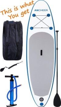 (Blue AS09) ANCHEER 10′ Inflatable Stand up Paddle Board Package Review  (2019) de5c4cc84