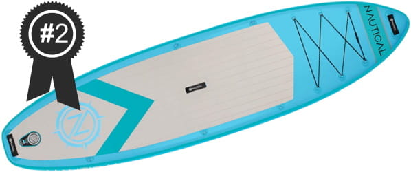 #2 Best Cheap iRocker Nautical 10'6 Inflatable Stand Up Paddle Board