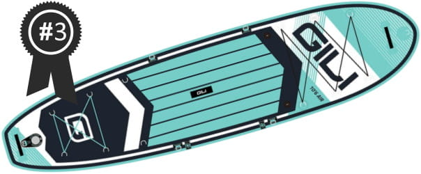 #3 Best Cheap GILI Air 10'6 Inflatable Stand Up Paddle Board