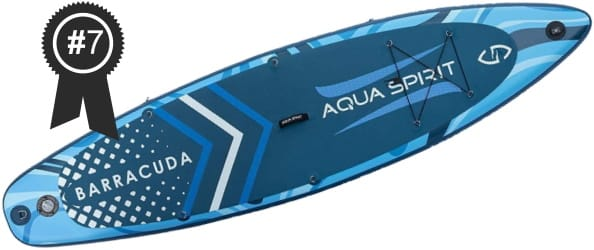 #7 Best Cheap Aqua Spirit 10'6 Inflatable Stand Up Paddle Board