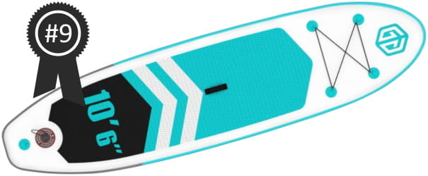 #9 Best Cheap Goosehill 10'6 Inflatable Stand Up Paddle Board