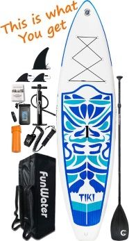 FunWater 10'6 Tiki Cruiser Package Illustration