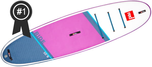 #1 Best: Red Paddle Co 10'6 Ride SE MSL Inflatable Stand Up Paddle Board