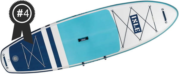 #4 Best: ISLE Pioneer 10'6 Inflatable Stand Up Paddle Board