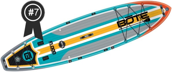 #7 Best: Bote Flood Aero 11' Full Trax Inflatable Stand Up Paddle Board
