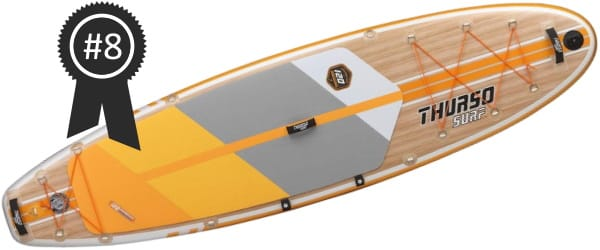 #8 Best: Thurso Surf Waterwalker 10'6 Inflatable Stand Up Paddle Board